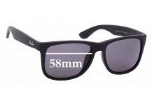 Sunglass Fix Sunglass Replacement Lenses for Ray Ban RB4165-F Justin - 58mm Wide           *Please measure as there are several models*