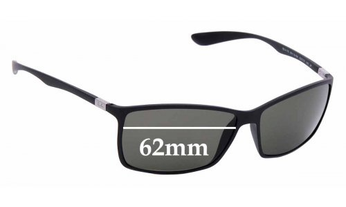 Sunglass Fix Sunglass Replacement Lenses for Ray Ban RB4179 Liteforce - 62mm wide