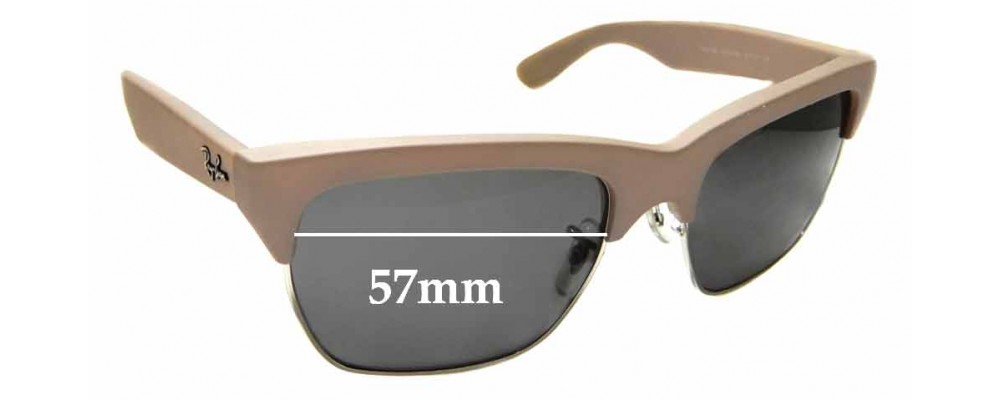 Sunglass Fix Sunglass Replacement Lenses for Ray Ban RB4186 - 57mm Wide