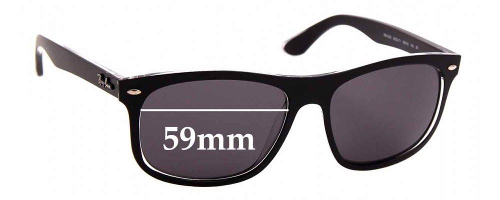 Sunglass Fix Sunglass Replacement Lenses for Ray Ban RB4226 - 59mm Wide