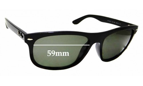 Sunglass Fix Sunglass Replacement Lenses for Ray Ban RB4226-F - 59mm Wide