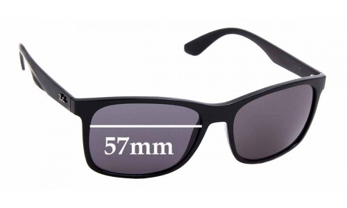 Sunglass Fix Sunglass Replacement Lenses for Ray Ban RB4232 - 57mm wide