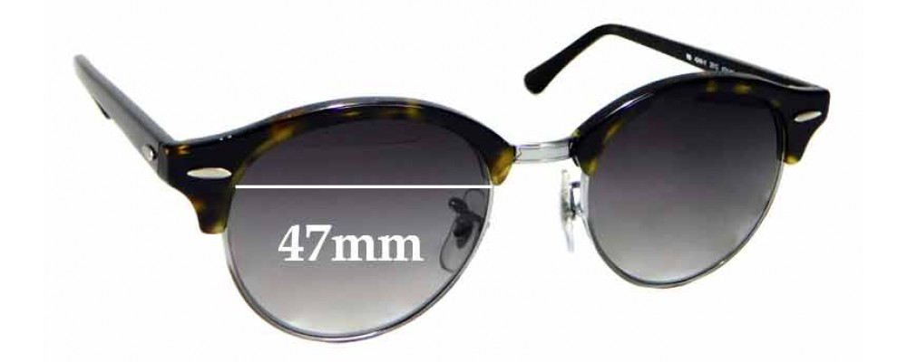 83877e9a999 Sunglass Fix Sunglass Replacement Lenses for Ray Ban RB4246-V - 47mm wide