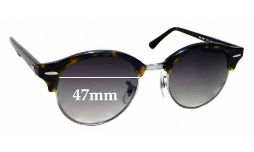 Sunglass Fix Sunglass Replacement Lenses for Ray Ban RB4246-V - 47mm wide