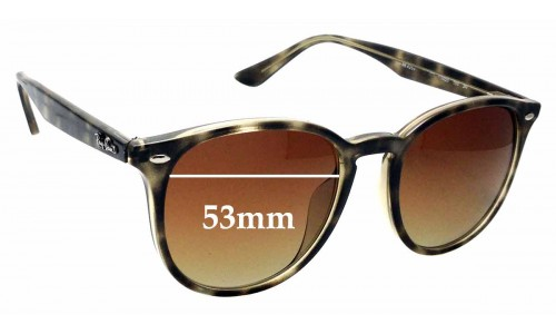 Sunglass Fix Sunglass Replacement Lenses for Ray Ban RB4259 - 53mm wide *Please measure as there are several models*