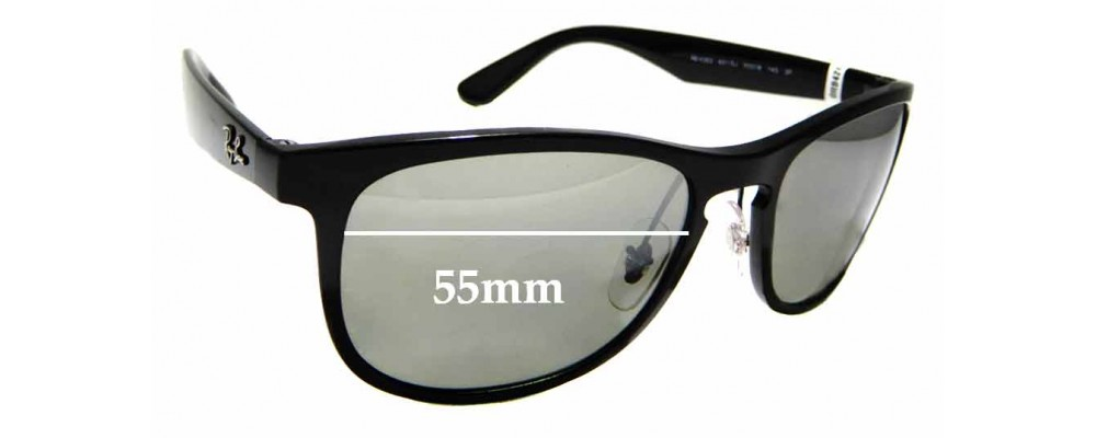 Sunglass Fix Sunglass Replacement Lenses for Ray Ban RB4263 - 55mm Wide