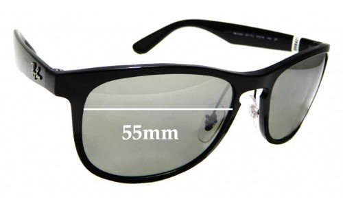 Sunglass Fix Sunglass Replacement Lenses for Ray Ban RB4263- 55mm wide