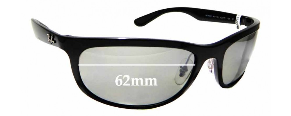 Sunglass Fix Sunglass Replacement Lenses for Ray Ban RB4265 - 62mm Wide