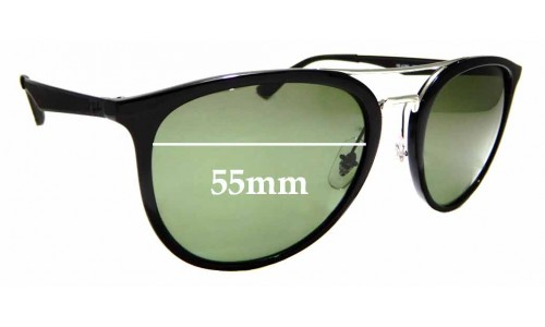 Sunglass Fix Sunglass Replacement Lenses for Ray Ban RB4285 - 55mm Wide