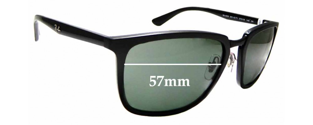 Sunglass Fix Sunglass Replacement Lenses for Ray Ban RB4303 - 57mm Wide