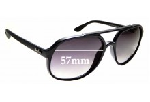 Sunglass Fix Sunglass Replacement Lenses for Ray Ban RB4312 - 57mm Wide