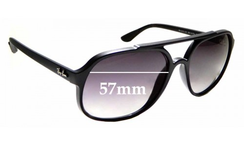 Sunglass Fix Sunglass Replacement Lenses for Ray Ban RB4312-CH - 57mm wide