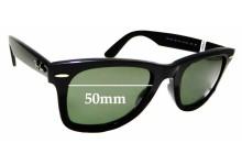 Sunglass Fix Sunglass Replacement Lenses for Ray Ban Wayfarer RB4340 - 50mm Wide