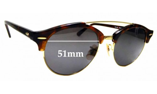 Sunglass Fix Sunglass Replacement Lenses for Ray Ban RB4346 - 51mm wide