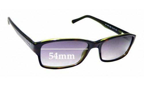Sunglass Fix Sunglass Replacement Lenses for Ray Ban RB5169 - 54mm wide