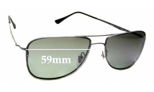 Sunglass Fix Sunglass Replacement Lenses for Ray Ban LightRay RB8054 - 59mm wide