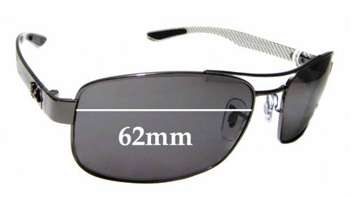 Sunglass Fix Sunglass Replacement Lenses for Ray Ban RB8318CH Chromance - 62mm wide