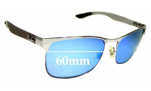 Sunglass Fix Sunglass Replacement Lenses for Ray Ban RB8319-CH - 60mm wide