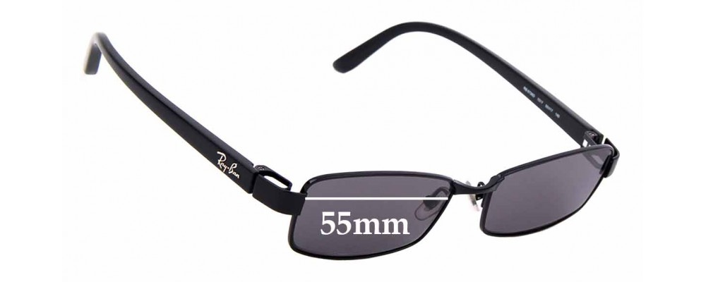 Sunglass Fix Sunglass Replacement Lenses for Ray Ban RB8726-D - 55mm Wide