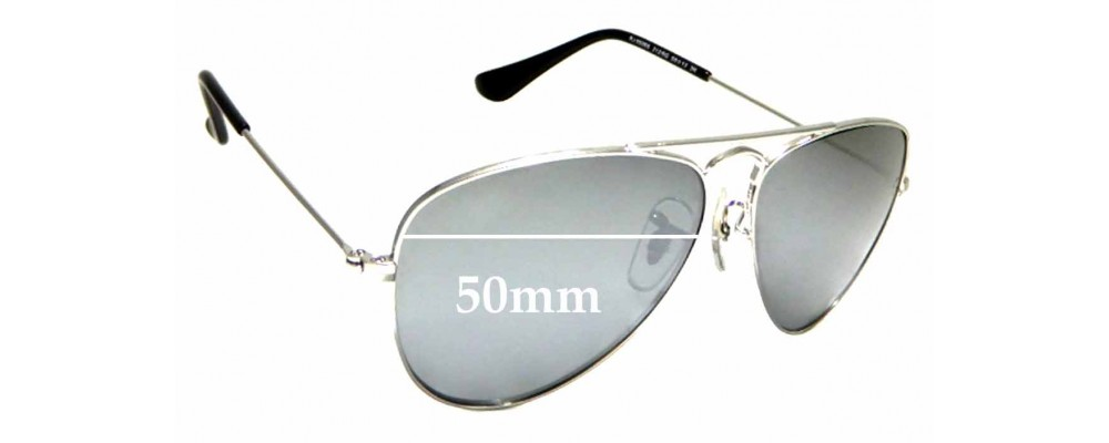 Sunglass Fix Sunglass Replacement Lenses for Ray Ban Jr RJ9506-S - 50mm Wide