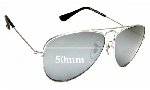 Sunglass Fix Sunglass Replacement Lenses for Ray Ban Jr RJ9506S - 50mm wide