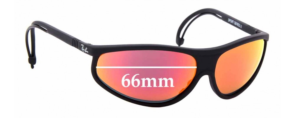 Sunglass Fix Sunglass Replacement Lenses for Ray Ban B&L Sport Series 2 - 66mm Wide