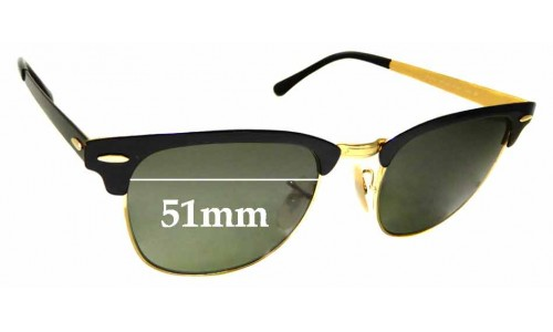 Sunglass Fix Sunglass Replacement Lenses for Ray Ban RB3716 Clubmaster - 51mm Wide