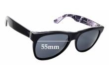 Sunglass Fix Sunglass Replacement Lenses for Retro Super Future Classic Marmo Alpi 807 - 55mm Wide