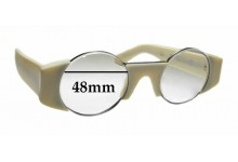 Sunglass Fix Sunglass Replacement Lenses for Retro Super Future Super Gosha Rubchinskiy - 48mm Wide
