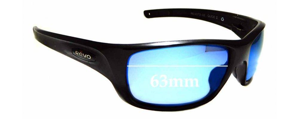 ac4ace7de2c7 Sunglass Fix Sunglass Replacement Lenses for Revo RE4073 Guide II - 63mm  wide