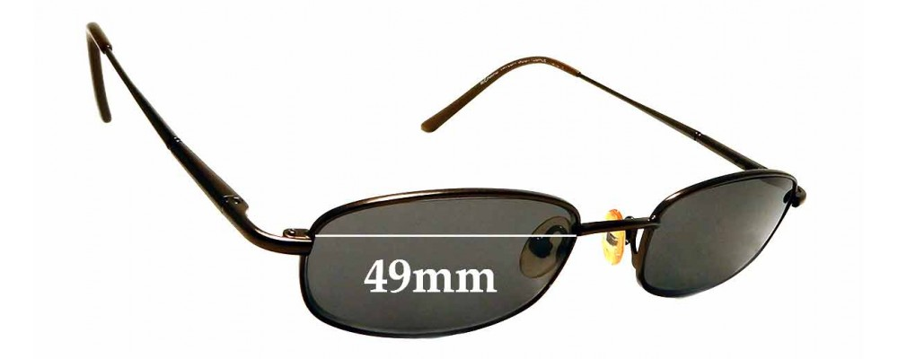 Sunglass Fix Sunglass Replacement Lenses for Richard Taylor Scottsdale Steve - 49mm Wide