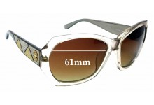 Sunglass Fix Sunglass Replacement Lenses for Roberto Cavalli Abelia 592S - 61mm Wide