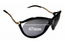 Sunglass Fix Sunglass Replacement Lenses for Roberto Cavalli Prasio 449S - 67mm Wide