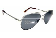 Sunglass Fix Sunglass Replacement Lenses for Roxy Sun Rx 17 - 55mm Wide