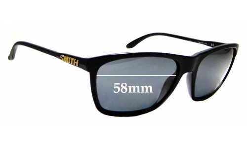 Sunglass Fix Sunglass Replacement Lenses for Smith Delano - 58mm Wide