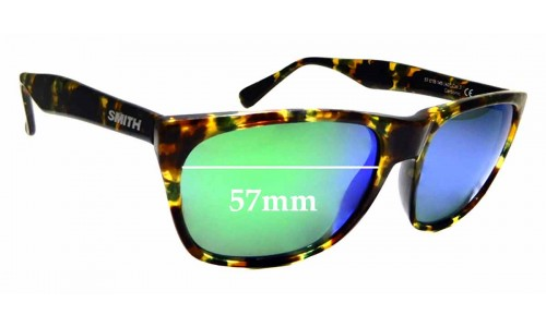 Sunglass Fix Sunglass Replacement Lenses for Smith Tioga - 57mm Wide