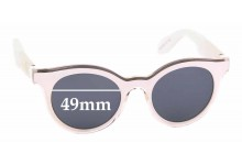 Sunglass Fix Sunglass Replacement Lenses for Swatch SW01 - 49mm Wide