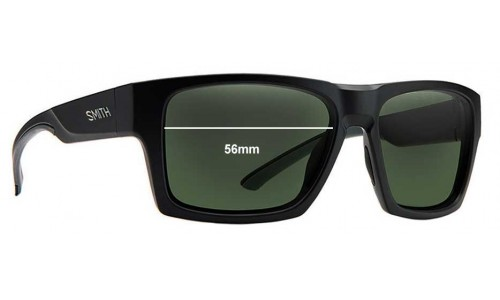 Sunglass Fix Sunglass Replacement Lenses for Smith Outlier - 56mm Wide