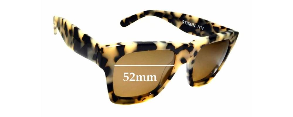 Sunglass Fix Sunglass Replacement Lenses for Thrills No. 4 - 52mm Wide