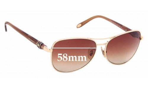 Sunglass Fix Sunglass Replacement Lenses for Tiffany & Co TF 3036-B - 58mm Wide