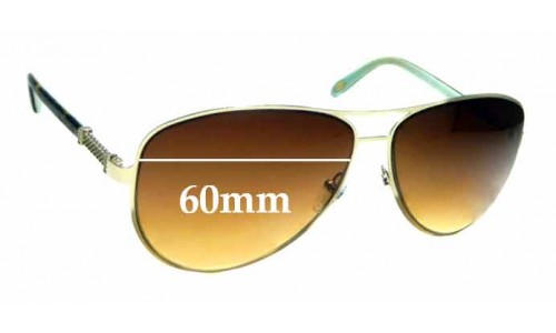 Sunglass Fix Sunglass Replacement Lenses for Tiffany & Co TF 3048-B - 60mm Wide
