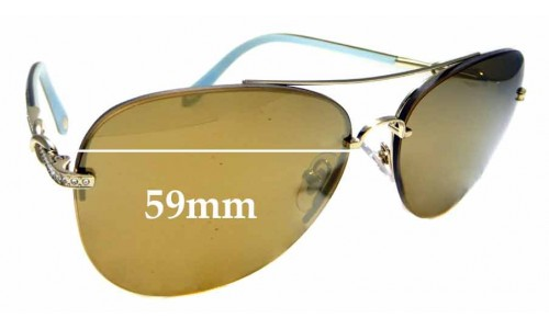 Sunglass Fix Sunglass Replacement Lenses for Tiffany & Co TF 3054-B - 59mm Wide