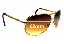 Sunglass Fix Sunglass Replacement Lenses for Tod's TO 08 - 62 mm Wide