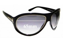 b848e106a4 Sunglass Fix Sunglass Replacement Lenses for Tom Ford Angus TF25 - 65mm Wide
