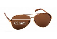 Sunglass Fix Sunglass Replacement Lenses for Tory Burch TY6021Q - 62mm Wide