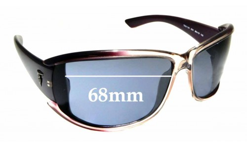 Sunglass Fix Sunglass Replacement Lenses for Trussardi TE21181 - 68mm Wide
