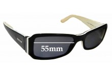 Sunglass Fix Sunglass Replacement Lenses for Vogue VO2323-S - 55mm Wide