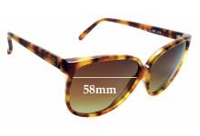 Sunglass Fix Sunglass Replacement Lenses for Vuarnet Pouilloux 467 - 58mm Wide