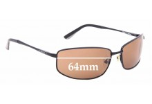 Sunglass Fix Sunglass Replacement Lenses for Vuarnet Pouilloux REF192 - 64mm Wide