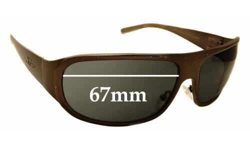 Sunglass Fix Sunglass Replacement Lenses for Xezo Incognito - 67mm Wide